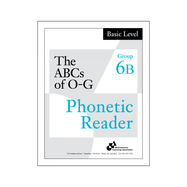 Basic Phonetic Reader Group 6B
