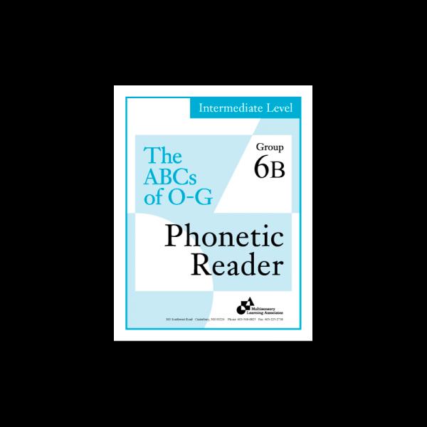 Intermediate Phonetic Reader Group 6B