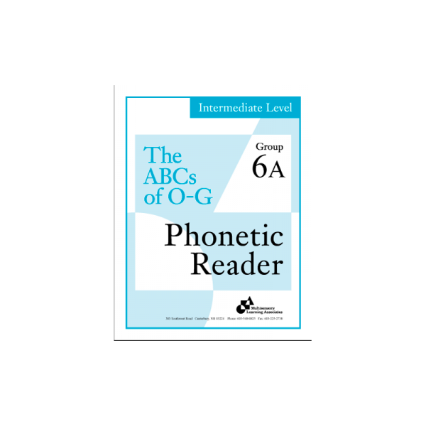 Intermediate Phonetic Reader Group 6A